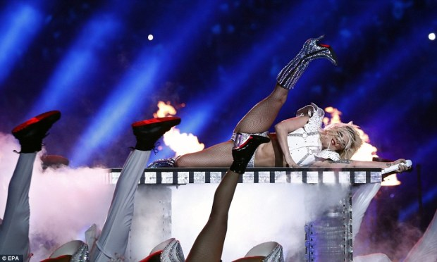 Flexible: Lady Gaga's show was months in the planning and the singer had kept social media up to date on her progress over the past few weeks