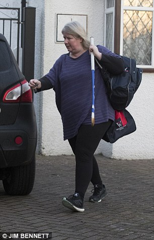 Mrs Farage leaves her home today
