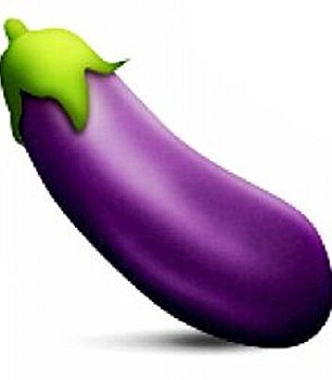 The aubergine can be used to mean a penis