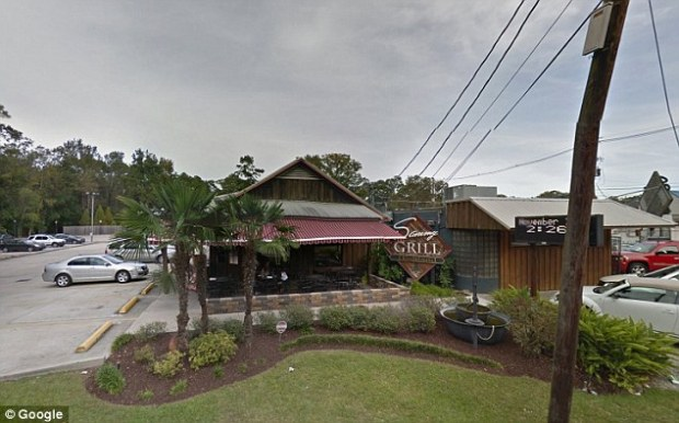 The incident took place at Sammy's Grill (pictured) in Baton Rouge on February 3