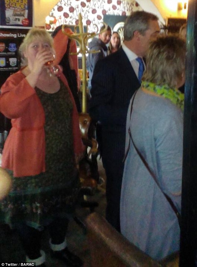 Defiant: As rumours swirled about her husband, Kirsten Farage – the mother of his two young daughters – conceded that their marriage has been over for years. Pictured: Mr Farage with Kirsten at their local pub in Kent in 2015