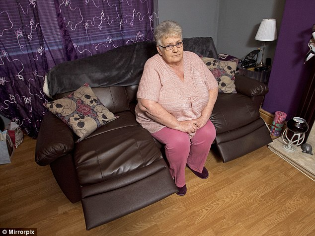 beach chairs uk argos simply cool rigby accent chair and ottoman mother humiliated after repairman calls her large daily mail christine douglas was left in floods of tears an said she the