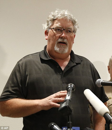 Bill Croyle, acting Director of the California Department of Water Resources, speaks during a press conference on Sunday