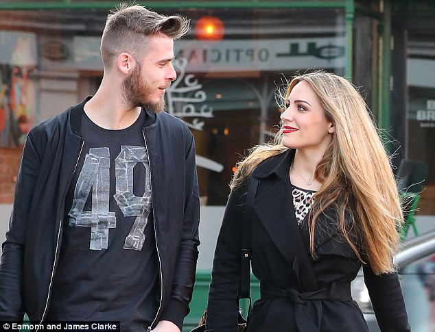 David de Gea was seen enjoying some downtime with his fiancee, Edurne Garcia