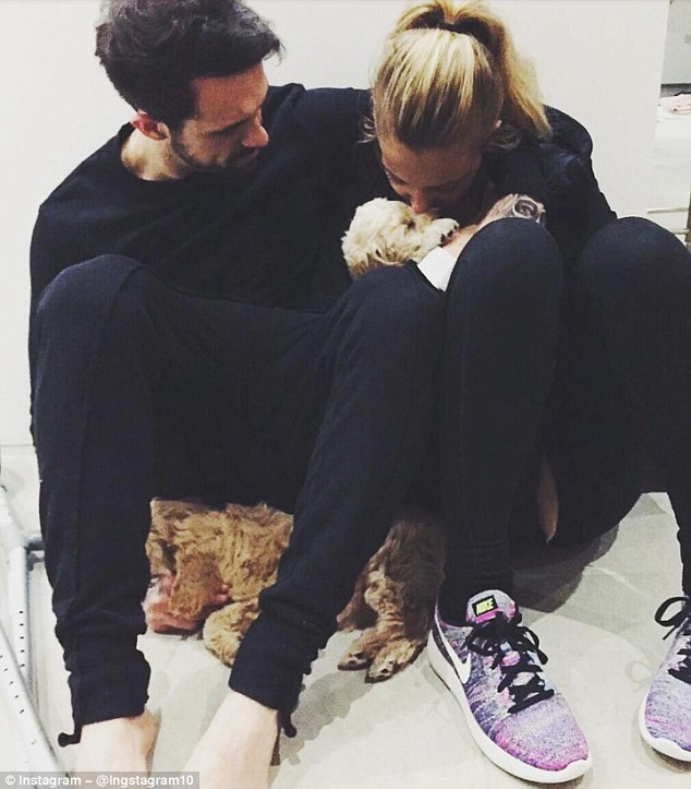 Danny Ings posted a picture on Instagram with his partner Georgia Gibbs and their two dogs