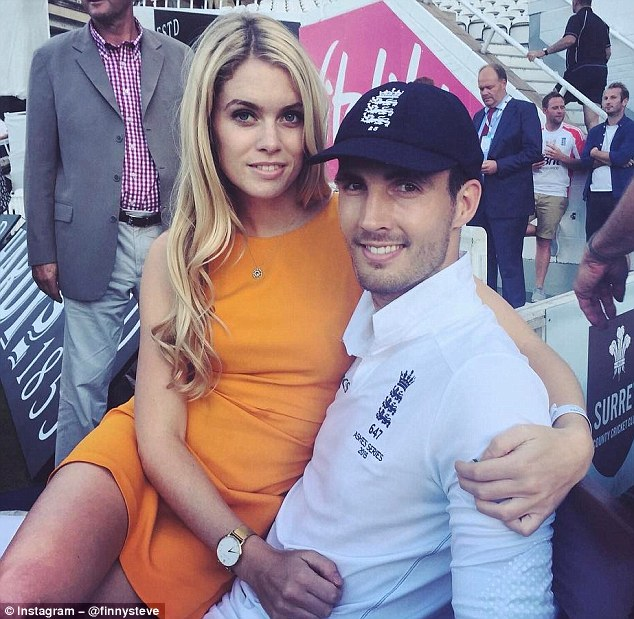 England cricketer Steven Finn posted a picture with his girlfriend Rose Hall