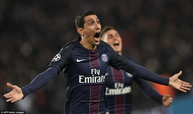 Angel di Maria scored twice as Paris Saint-Germain humbled Barcelona during a dominant display at the Parc des Princes