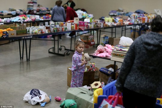 Four-year-old Emma Neurohr or Oroville is one of nearly 200,000 people who have been evacuated in fear the crumbling emergency spillway may give way. She is taking shelter at the Salvation Army relief center in Placer County Fairgrounds