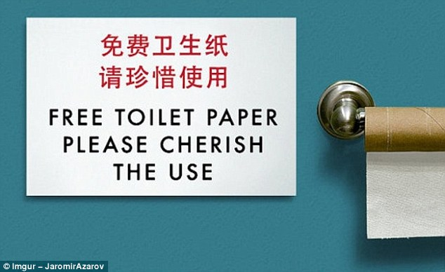 At last, an establishment in which you aren't charged extra for loo roll - so you'd better cherish it