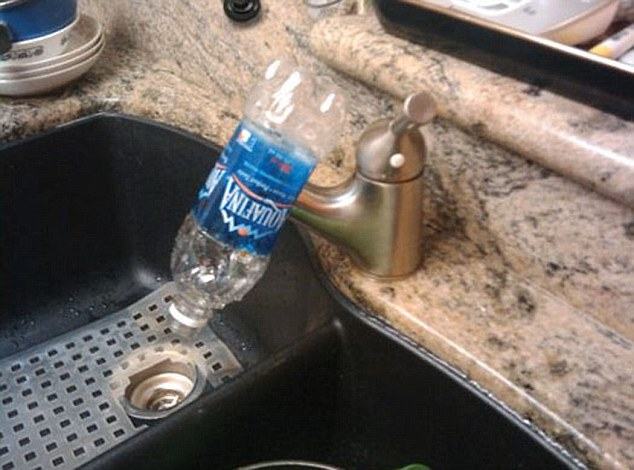 This water bottle found a new lease of life when the tap broke