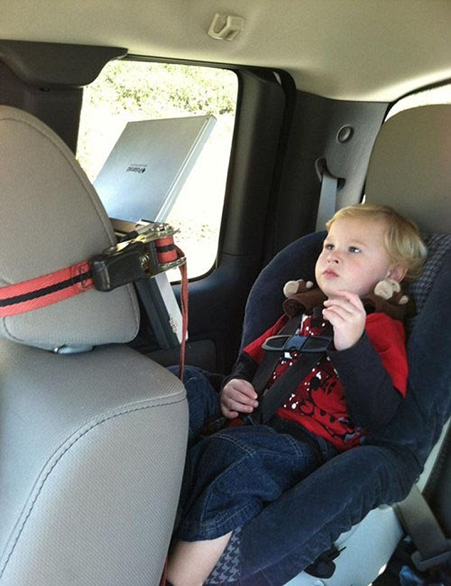 Some cars come fitted with on-board entertainment, but others have to improvise