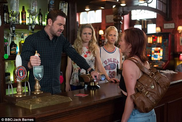 Joker: The actor who plays pub landlord of The Queen Vic (pictured in the soap) has joked that producers have tried to run 'non-alcoholic beer' through their taps to stop him drinking on set