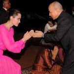 Angelina Jolie Stuns In Pink As Cambodian King Honors Her