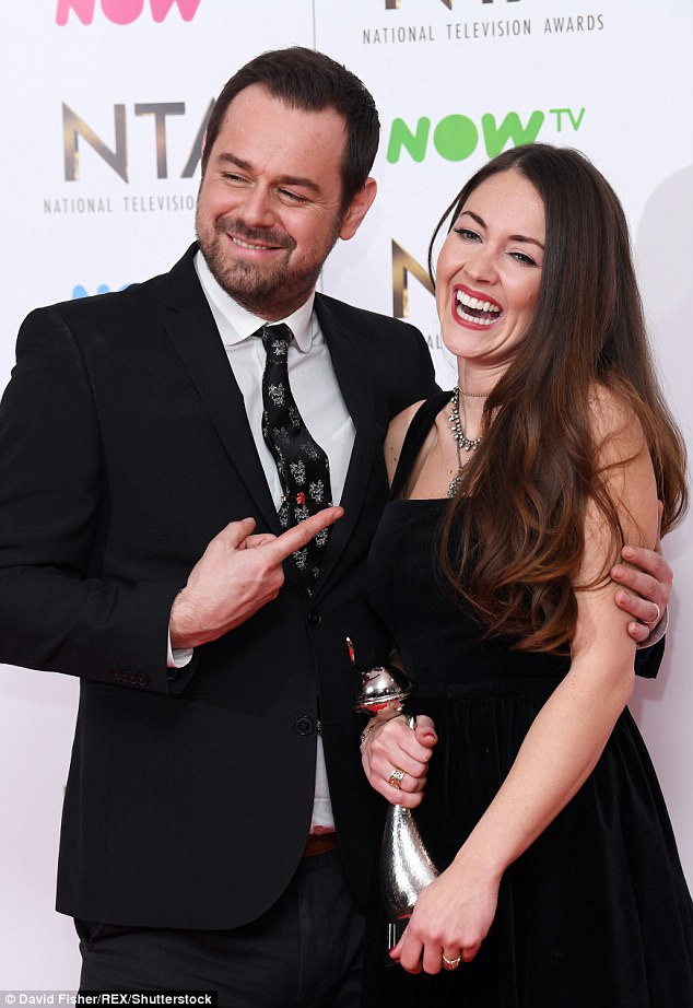 A friend of Danny's told MailOnline: 'He wasn't behaving badly - he just wanted to leave but couldn't find the exit (pictured with Lacey Turner)