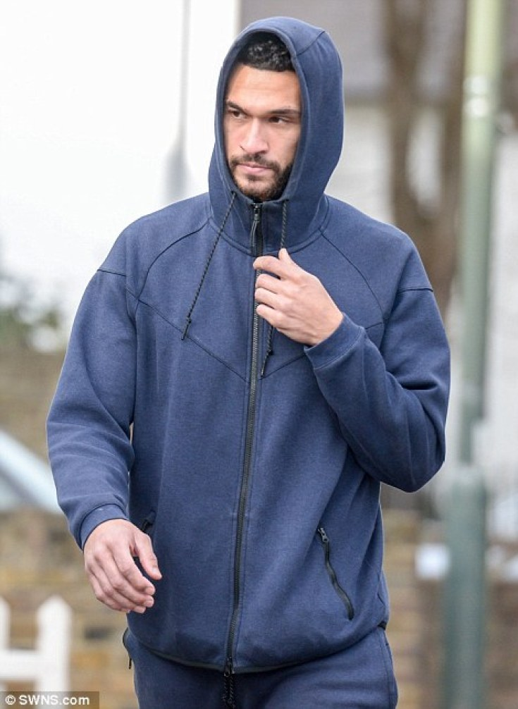The 25-year-old Queen's Park Rangers player was seen returning to his partner's south London home this afternoonwith girlfriend Lauren Merrick