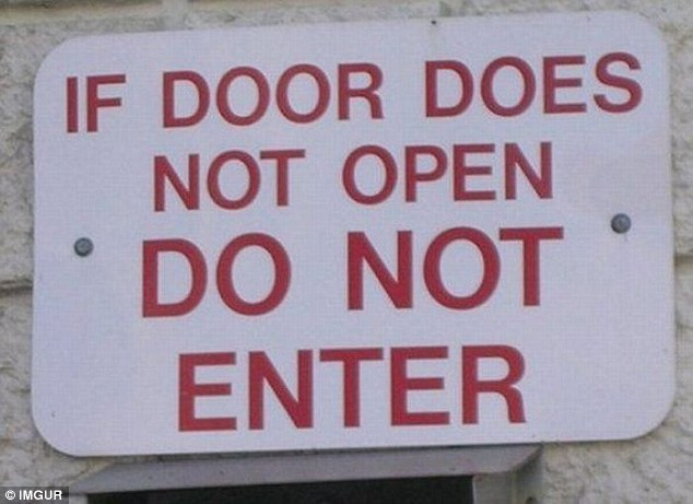 Unless this sign is reserved for superhumans capable of defying the laws of physics, it's pretty redundant