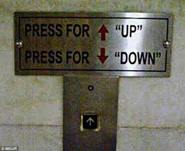 Who understands basic English, but needs coaching in the art of operating a lift? It remains unclear