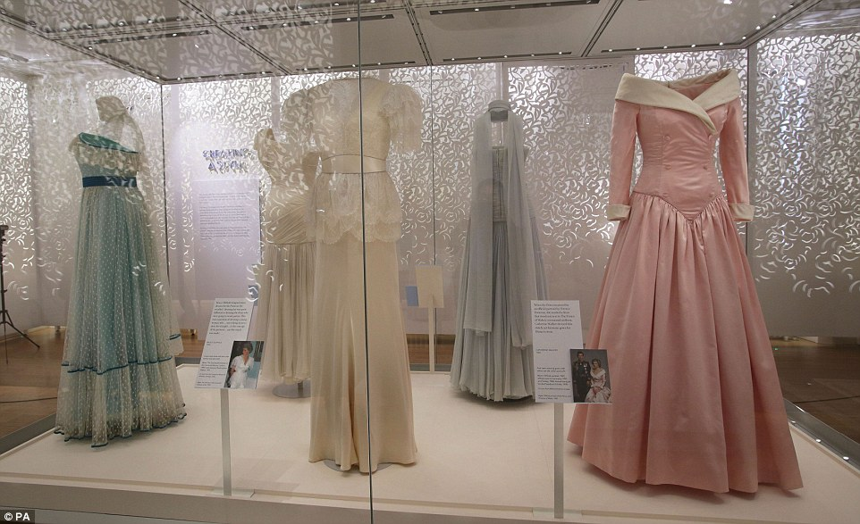 Princess Dianas iconic dresses go up in Kensington Palace