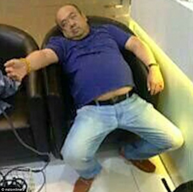 Shocking pictures show Kim Jong-Nam slumped in a chair having been poisoned