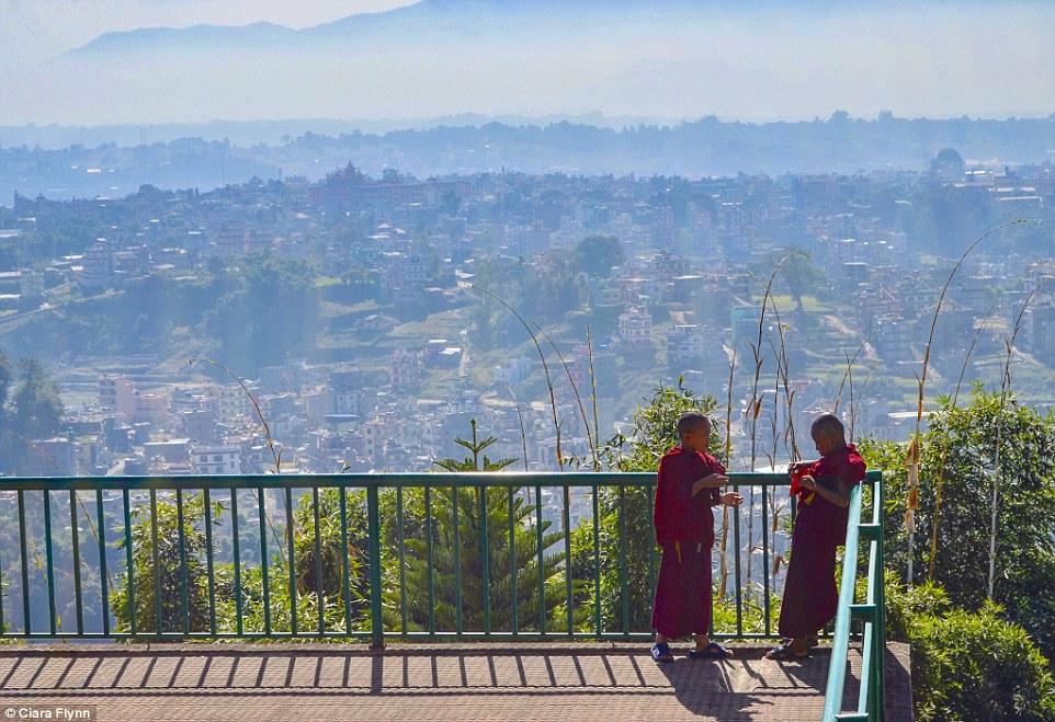 This capture of two monks in Kathmandu won Ms Flynn the job of a lifetime. She commented on the snap: 'I spent hours sat in a monastery at Kathmandu just watching these young monks before I shot this picture. Seeing them subtly switch between being children and monks gave me a glimpse into a different and fascinating culture'