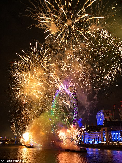 City splendour: A shot of New Year¿s Eve in London