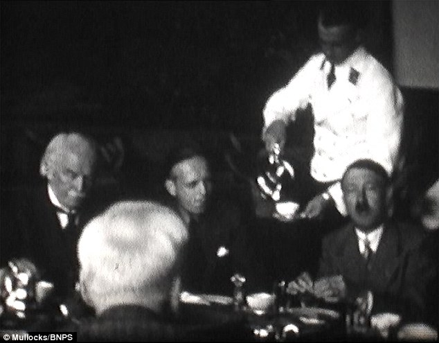 The pair first met alone at the Berghof, before Lloyd George returned for tea the following night (pictured)