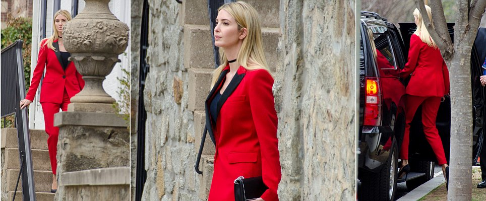 Ivanka Trump wears red pantsuit for bill-signing ceremony