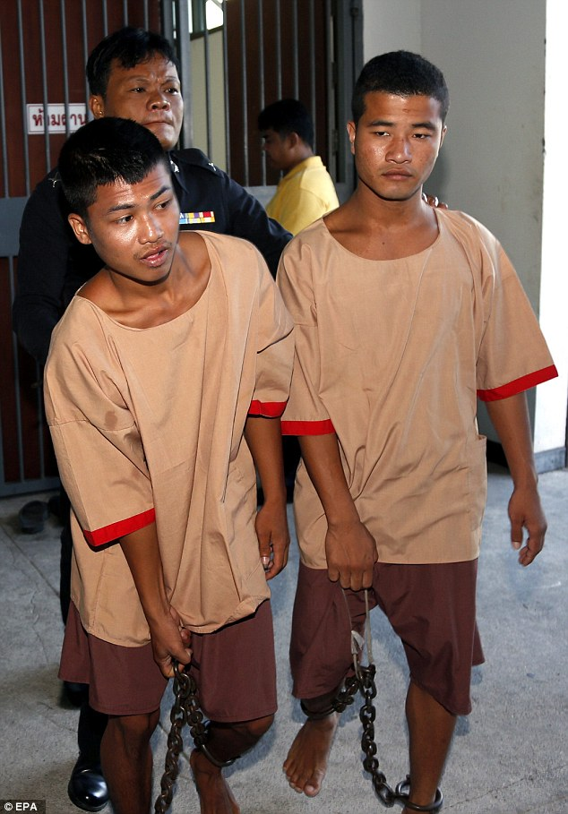 Convicted:Zaw Lin and Win Zaw Tun have lost an appeal against the death sentence in Thailand