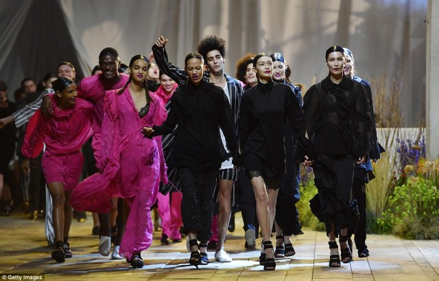 Here come the girls! The Swedish high street retailer's latest show was a fun and relaxed affair