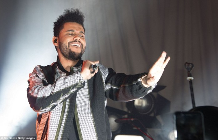 Sing it: Somewhat awkwardly, Bella's ex beau The Weeknd had been booked to perform his new single Nothing Without You to close the presentation