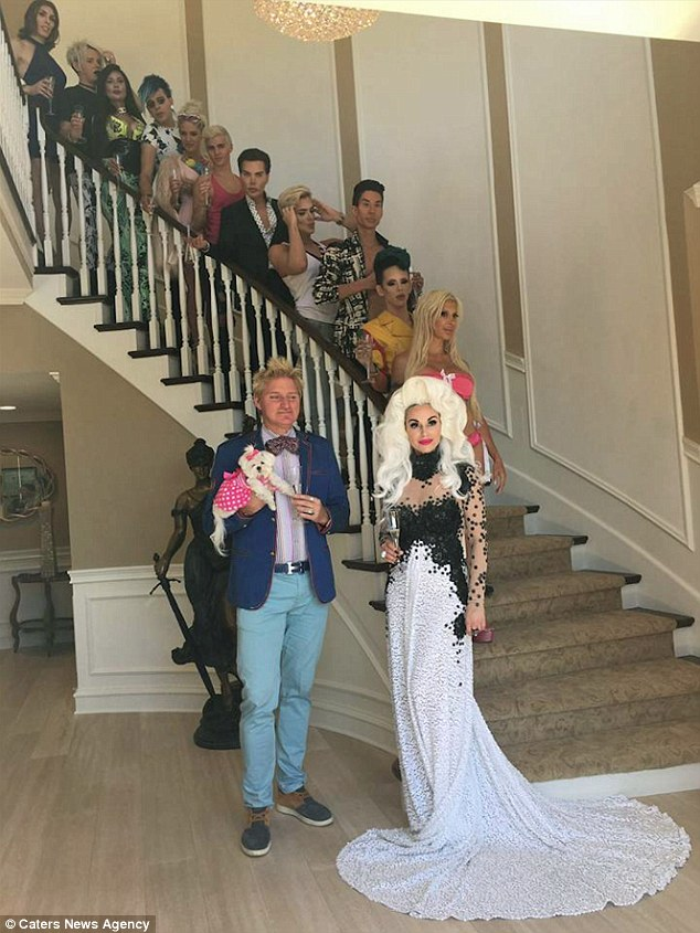 Vinny is joining the agency and TV show Plastics of Hollywood. He is pictured on the steps with producer Marcela Iglesias and Patrik Simpson