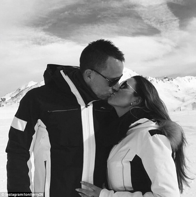 John Terry and Toni Terry shared snaps of their skiing holiday on their Instagram pages