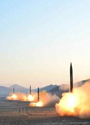 The missiles were launched by the North Korean military