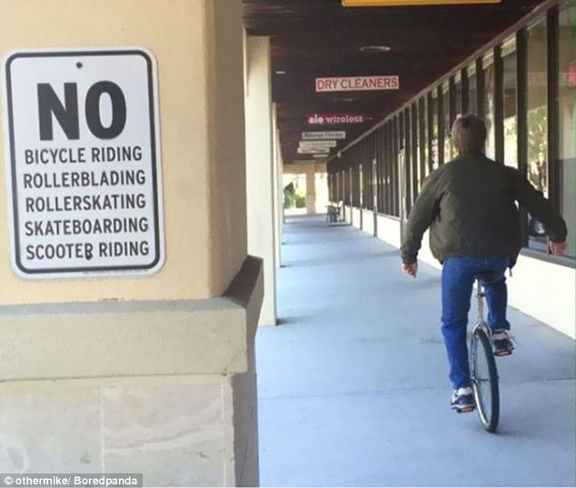 This guy realised that travelling via unicycle was not technically breaking the rules
