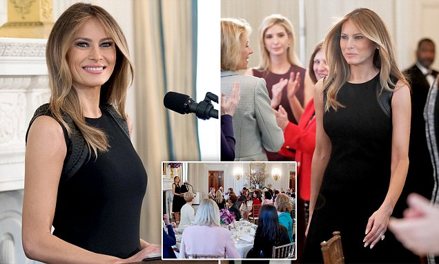 Melania Trump hosts an International Women's Day lunch
