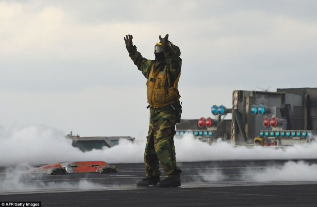 The Carl Vinson Strike Group is participating in the annual joint Foal Eagle exercise between South Korea and the US
