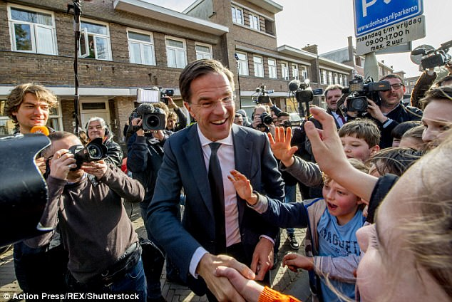 Rutte - who has vowed never to work alongside Wilders - will now attempt to form a coalition government and could possibly turn to the CDA and the D66