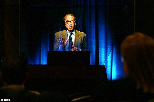 Kurzweil said he wasn't concerned about the threat that intelligent robots might pose to humanity. He believes that implanting computers in our brains will improve us (stock image)