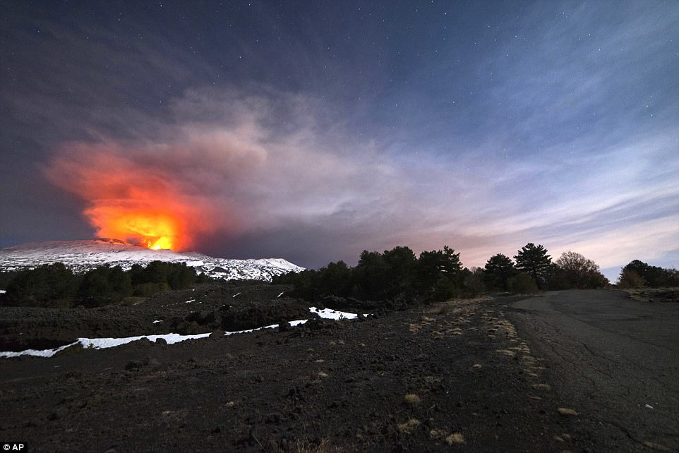 The new eruption began on Wednesday and continued on Thursday as tourists and scientists visited Mount Etna