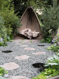 Ditch the decking for stone, gravel or fake grass