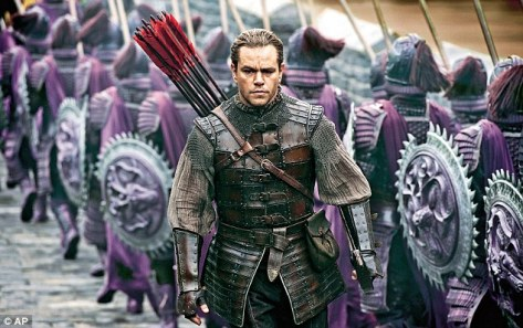 Matt Damon in The Great Wall.Its origins are in Hollywood but it was made in China by a Chinese director with a mostly Chinese cast and a Chinese/Western crew