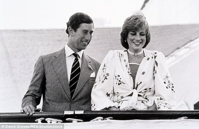 Charles and Diana pictured on the Royal Yacht Brittania, where they spent part of their honeymoon in 1981. The Princess said it was a 'perfect opportunity to catch up on some sleep'