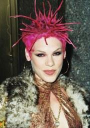 pink returns trademark hair