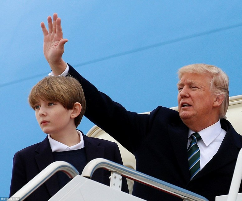 It's unknown how long Barron will stay in Florida as many New York schools are starting spring break for the next two weeks
