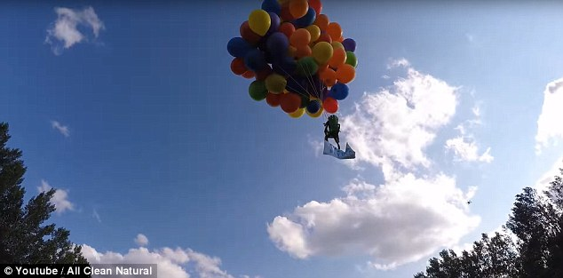 chair with balloons folding library calgary balloon man apologizes for lawn flight daily mail online boria pictured strapped 120 helium to a his 20