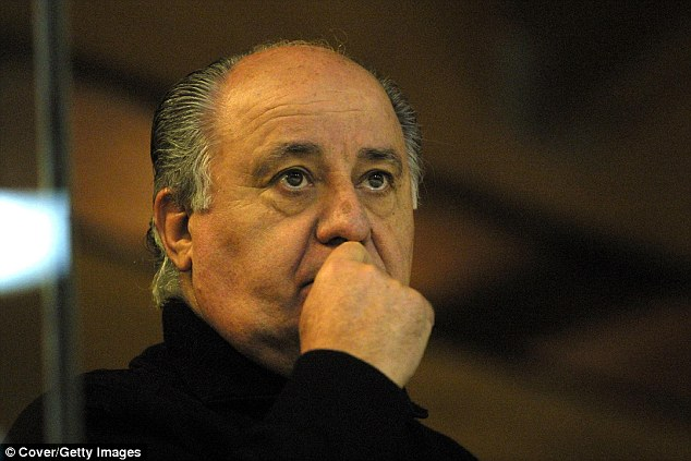 Amancio Ortega, the Inditex fashion group founder, was listed by Forbes as the fourth richest person with an estimated net worth of $71.3billion