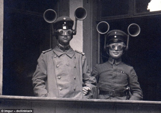 These headsets were a World War II German invention  designed to enhance the noise and flash of enemy guns so they were easier to pinpoint