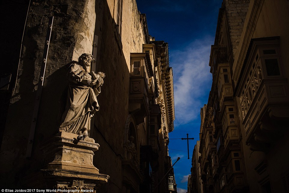 An architecture detail of a building at Valletta old city, Malta, captured by Greek photographer Elias Joidos