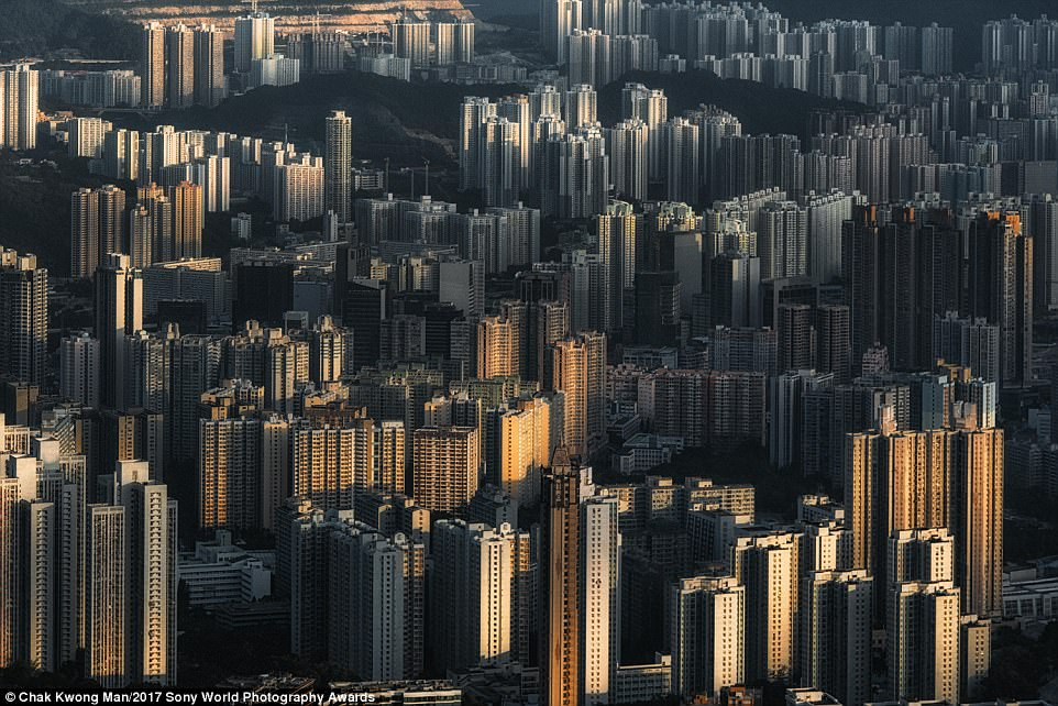 This eye-popping image shows the dense urbanisation of Hong Kong - it was taken by local Chak Kwong Man