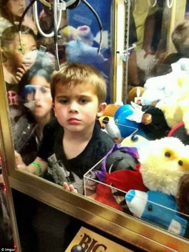 Imgur users share images of kids stuck in funny places